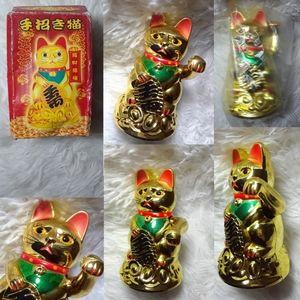 Vintage Asiatic Good Luck Golden Waving House Cat
